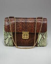 Chloé - Brown Elsie Jumbo Shoulder Bag, Python Colorblock - Lyst