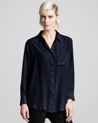 Equipment | Black Daddy Blouse | Lyst