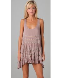 Free People | Pink Trapeze Slip Dress | Lyst