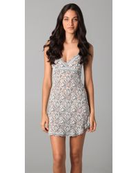 Hanky Panky | Gray Cross Dyed Signature Lace Chemise | Lyst