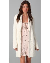 Juicy Couture | White Cable Robe | Lyst