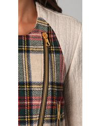 Rag & Bone | Multicolor Sackville Leather-trimmed Wool Biker Jacket | Lyst