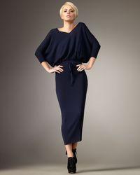 Robert Rodriguez | Blue Merino Wool Dolman Sweaterdress | Lyst