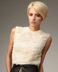 Robert Rodriguez | White Crinkled Chiffon Top | Lyst