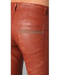 Roseanna - Orange Nash Slim Leather Pants - Lyst