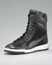 Alexander McQueen X Puma | Black Feist Zip Hi-top Sneaker for Men | Lyst