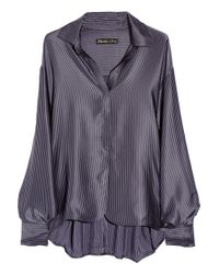Elizabeth and James | Blue Paris Striped Silk-satin Blouse | Lyst