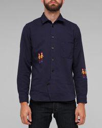 Folk | Blue Zevon Overshirt for Men | Lyst