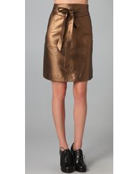 Marc By Marc Jacobs | Limelight Metallic Leather Skirt | Lyst