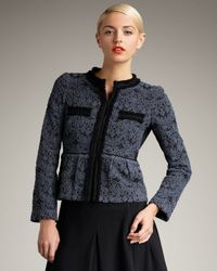 Nanette Lepore | Gray Lovelace Jacket | Lyst