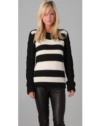 Pencey | Black Striped Crew | Lyst