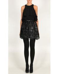 Tibi | Black Imperial Lace Skirt | Lyst