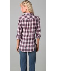 C&C California - Multicolor Fantasy Plaid Long Sleeve Fitted Tab Shirt - Lyst