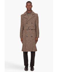 Marc By Marc Jacobs - Brown Avalon Herringbone Coat for Men - Lyst