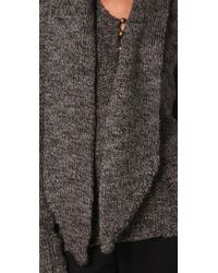 Mike Gonzalez - Black Long Sleeve Sweater with Attached Scarf - Lyst