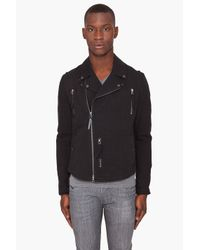 Robert Geller | Black Moto Jacket for Men | Lyst