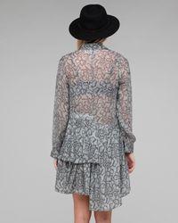 Shakuhachi - Gray Python Tiered Shirt Dress - Lyst