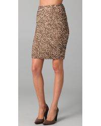 VINCE | Metallic Sequin Pencil Skirt | Lyst