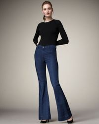 J Brand | Blue Loni Waterloo High-rise Flared Jeans | Lyst