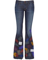 Textile Elizabeth and James | Blue Jimi Patchwork Flared Jeans | Lyst