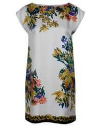 Tibi | Multicolor Baroque Print Shift Dress | Lyst