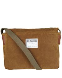 Ally Capellino - Brown Camel Mini Jeremy Messenger Bag - Lyst