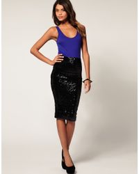 ASOS Collection | Black Asos Pencil Skirt in Sequins | Lyst