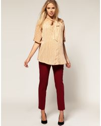 ASOS Collection - Natural Asos Maternity Mini Chain Print Blouse - Lyst