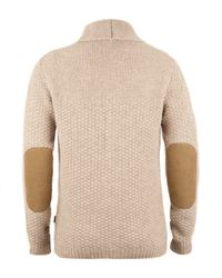 Barbour - Natural Oatmeal Moss Shawl Collar Cardigan for Men - Lyst