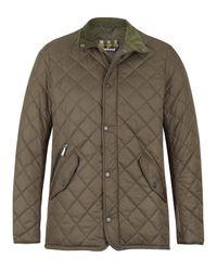 Barbour | Natural Olive Chelsea Sportsquilt Jaket for Men | Lyst
