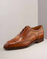 Barker Black | Brown Archdale Wing-tip for Men | Lyst
