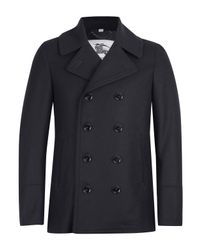 Burberry | Blue Navy Double Breasted Addison Pea Coat for Men | Lyst