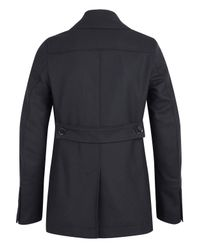 Burberry - Blue Navy Double Breasted Addison Pea Coat for Men - Lyst