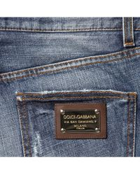 Dolce & Gabbana - Blue Stone Washed Jeans for Men - Lyst