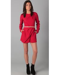 Dolce Vita | Red Daisy Long Sleeve Romper | Lyst