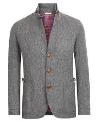 Oliver Spencer | Gray Grey Tweed Travel Blazer for Men | Lyst
