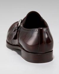 Prada - Black Monk-strap Wing-tip for Men - Lyst