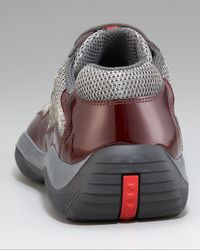 Prada - Red Patent Leather Sneaker for Men - Lyst