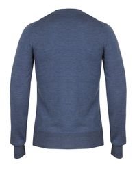 Vivienne Westwood - Blue Double V-neck Orb Jumper for Men - Lyst
