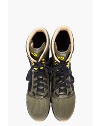 Y-3 - Green Warrior High Boots for Men - Lyst