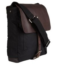 Ally Capellino Gray Waxed Cotton Ivan Messenger Bag for men