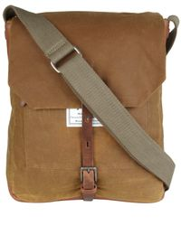 Ally Capellino | Natural Camel Slim Waxed Cotton Jonathon Messenger Bag for Men | Lyst