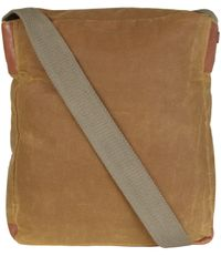 Ally Capellino   Natural Camel Slim Waxed Cotton Jonathon Messenger Bag for Men   Lyst