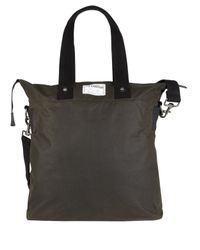 Ally Capellino Green Olive Waxed Cotton Timothy Bag for men