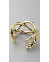 Anndra Neen - Metallic Braid Cuff - Lyst