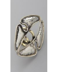 Anndra Neen | Metallic Vertical Hammered Ring | Lyst