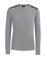 A.P.C. | Gray Shoulder Panel Sweater for Men | Lyst