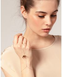 ASOS Collection - Metallic Asos Swallow Skinny Chain Hand Harness - Lyst