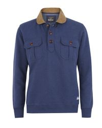 Barbour | Blue Branscombe Warm Up Sweater for Men | Lyst