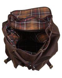 Barbour - Brown Wax Beacon Rucksack for Men - Lyst